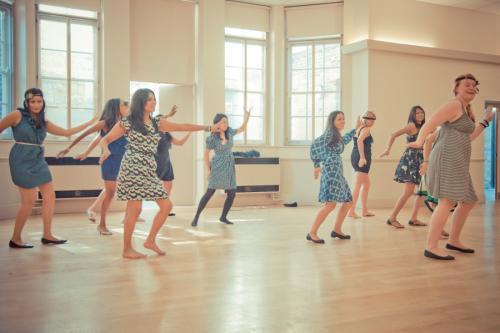 1940s dance class hen party