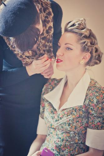 1940s hair and make up