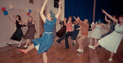Swing dance hen party