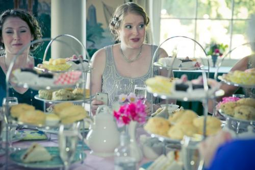 hen party vintage afternoon tea