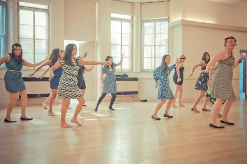 1940s dance class hen party