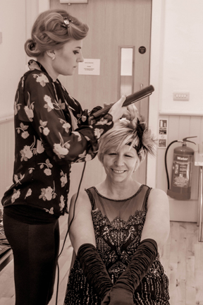 1920s hair and make up hen party