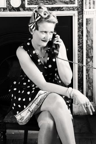 1950s photo with phone